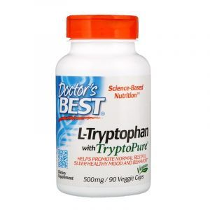 Триптофан, L-Tryptophan, Doctor's Best, 500 мг, 90 кап. (Default)