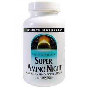 Аминокислотный комплекс, Super Amino Night, Source Naturals, 120 кап. (Default)