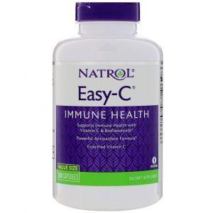 Витамин С (аскорбиновая кислота), Easy-C, Natrol, 500 мг, 240 капс.