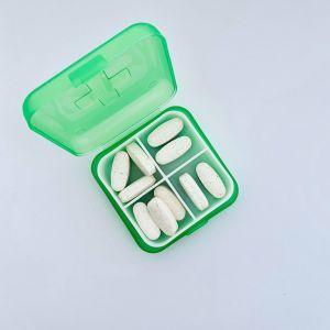 Органайзер для витаминов зеленый, Pill Box, 1 шт