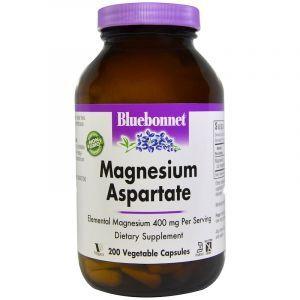 Магний аспартат, Magnesium Aspartate, Bluebonnet Nutrition, 200 капсул (Default)