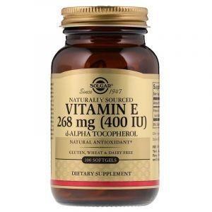 Витамин Е, Vitamin E, Solgar, натуральный, 400 МЕ, 100 капсул (Default)