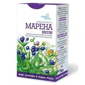 Марена-капли, Organic Herbs, ФитоБиоТехнологии, нормализация работы почек, 50 мл