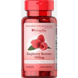Малиновые кетоны,  Raspberry Ketones, Puritan's Pride, 500 мг, 60 гелиевых капсул