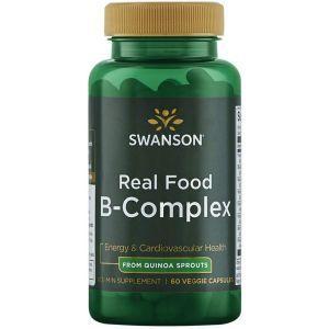 Комплекс группы В, Ultra Real Food B-Complex, Swanson, 60 вегетарианских капсул