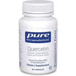 Кверцетин с биофлавоноидами, Quercetin, Pure Encapsulations, для клеточного, кардиометаболического и иммунного здоровья, 60 капсул