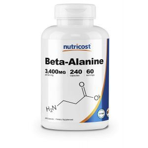Бета-аланин, Beta-Alanine, Nutricost, 3400 мг, 240 капсул
