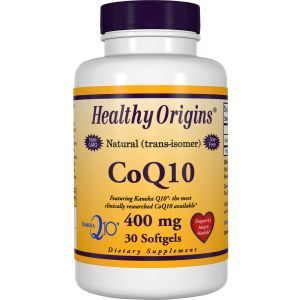 Коэнзим Q10, CoQ10 (Kaneka Q10), Healthy Origins, 400 мг, 30 гелевых капсул