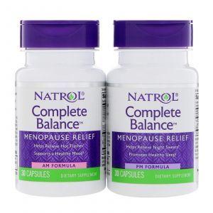 Менопауза полный комплекс, Complete Balance for Menopause, Natrol, 2 банки по 30 капсул
