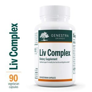 Поддержка печени, Liv Complex, Genestra Brands, 90 вегетарианских капсул