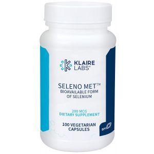 Селен, Seleno Met, Klaire Labs, 200 мкг, 100 капсул