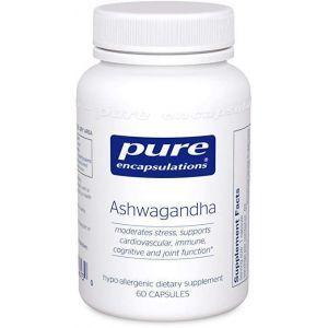 Ашвагандха, Ashwagandha, Pure Encapsulations, 60 капсул