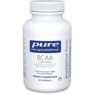 BCAA, Pure Encapsulations, поддержка мышечной функции во время упражнений, 90 капсул