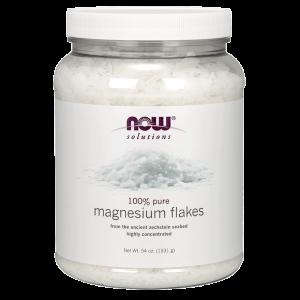 Магниевые хлопья для ванн, Solutions Magnesium Flakes, Now Foods, 1531г