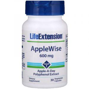Полифенолы яблочные, AppleWise Polyphenol, Life Extention, экстракт, 600 мг, 30 капсул (Default)