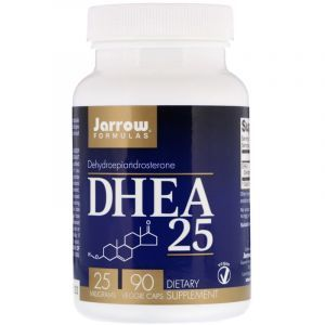 Дегидроэпиандростерон, DHEA 25, Jarrow Formulas, 25 мг, 90 капсул (Default)