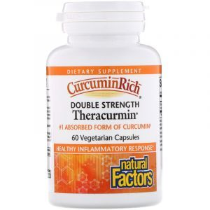 Куркумин улучшенный, CurcuminRich, Natural Factors, теракурмин двойной силы, 60 мг, 60 капсул (Default)