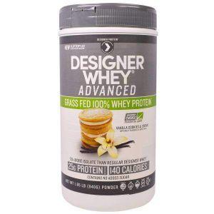Designer Protein, Designer Whey Advanced, Grass Fed 100% Whey Protein, Vanilla Cookies & Cream, 1.85 lb (840 g)
