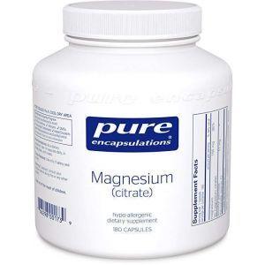 Магний (цитрат), Magnesium (citrate), Pure Encapsulations, 180 капсул