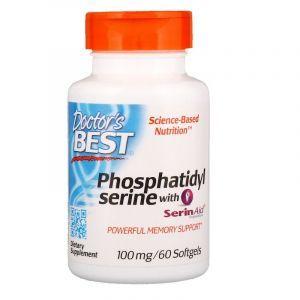 Фосфатидилсерин (Phosphatidylserine), Doctor's Best, 100 мг, 60 кап. (Default)