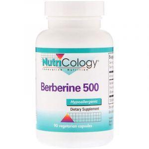 Берберин, Berberine 500, Nutricology, 90 вегетарианских капсул