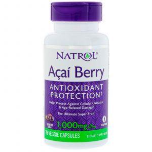 Асаи (супер), AcaiBerry, Natrol, 1000 мг, 75 капсул