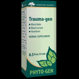Травяная добавка с черной ольхой, черной смородиной и боярышником, Trauma-gen, Genestra Brands, 15 мл