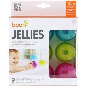 Игрушки для ванной, Bath Toys, Boon, Jellies, всасывающие, 12+ месяцев, 9 штук (Default)