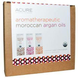 Марокканские эфирные масла (кокос, роза, имбирь), Acure Organics, 3 шт (30 мл).