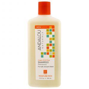 Шампунь с арганой и сладким апельсином, Shampoo, Andalou Naturals, 340 мл (