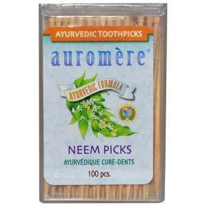 Аюрведические зубочистки, Auromere,100 шт
