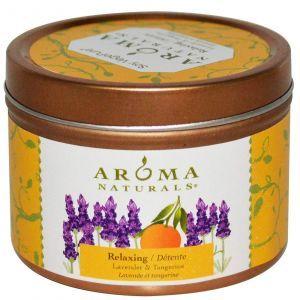 Свеча с лавандой и мандарином, Aroma Naturals, 79,38 г