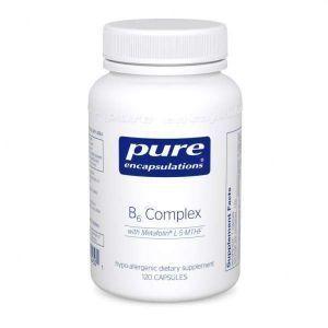 Витамин B6 (витаминный комплекс), B6 Complex, Pure Encapsulations, 120 капсул