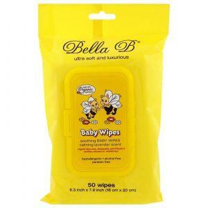 Влажные салфетки для малышей, Baby Wipes, Bella B, 50 шт