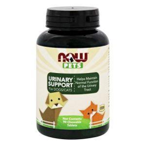 Витамины для животных, Urinary Support, For Dogs/Cats, Now Foods, 90 таблеток