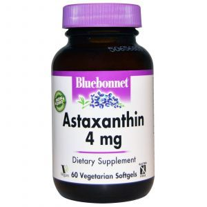 Астаксантин, Bluebonnet Nutrition, 4 мг, 60 кап