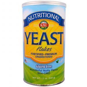 Дрожжи хлопьями, Yeast Flakes, KAL, 340 г