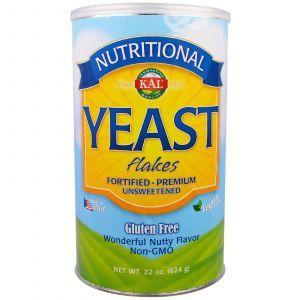 Дрожжи хлопьями несладкие, Yeast Flakes, KAL, 624 г