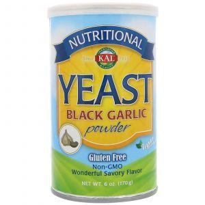 Пищевые дрожжи со вкусом черного чеснока, Nutritional Yeast, KAL, 170 г