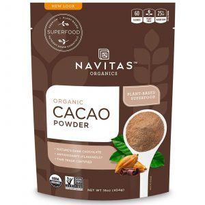 Сырой шоколадный какао-порошок, Cacao Powder, Navitas Naturals, органик, 454