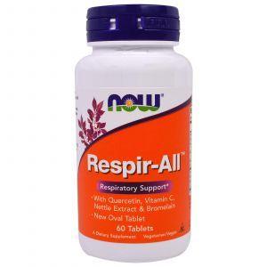 Иммунная смесь для горла, Respir-All, Now Foods, 60 таблет