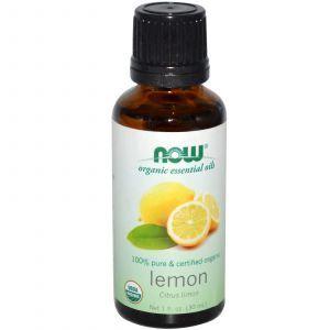Лимонное масло органик (Lemon), Now Foods, Essential Oils, 30 м