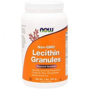 Лецитин в гранулах, Lecithin, Now Foods, без ГМО, 907