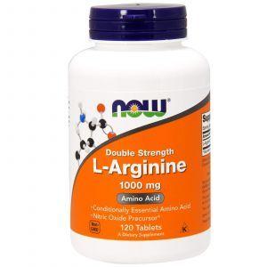 Аргинин, L-Arginine, Now Foods, 1000 мг, 120 таблет