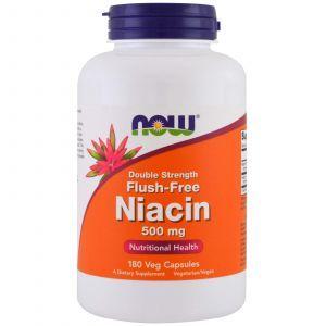 Витамин В3, Niacin, Now Foods, Ниацин, 500 мг, 180 к