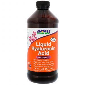 Гиалуроновая кислота жидкая, Hyaluronic Acid, Now Foods, 100 мг, 473 м