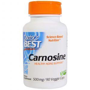 Карнозин, Carnosine, Doctor's Best, 500 мг, 90 капс