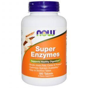 Пищеварительные ферменты, Super Enzymes, Now Foods, 180 та