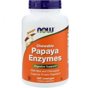 Папаин, Papaya Enzymes, Now Foods, 360 леденцо