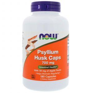 Подорожник в капсулах, Psyllium Husk, Now Foods, 700 мг, 180 капсу